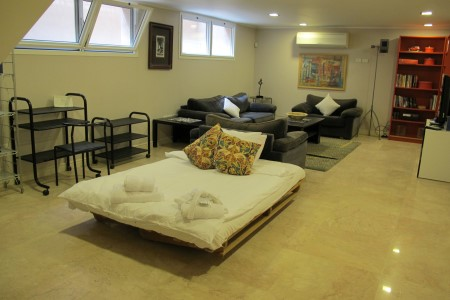 Living Room with futon opened