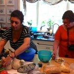 Dalit &amp; Nurit in the kitchen